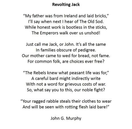 Revolting Jack Sonnet